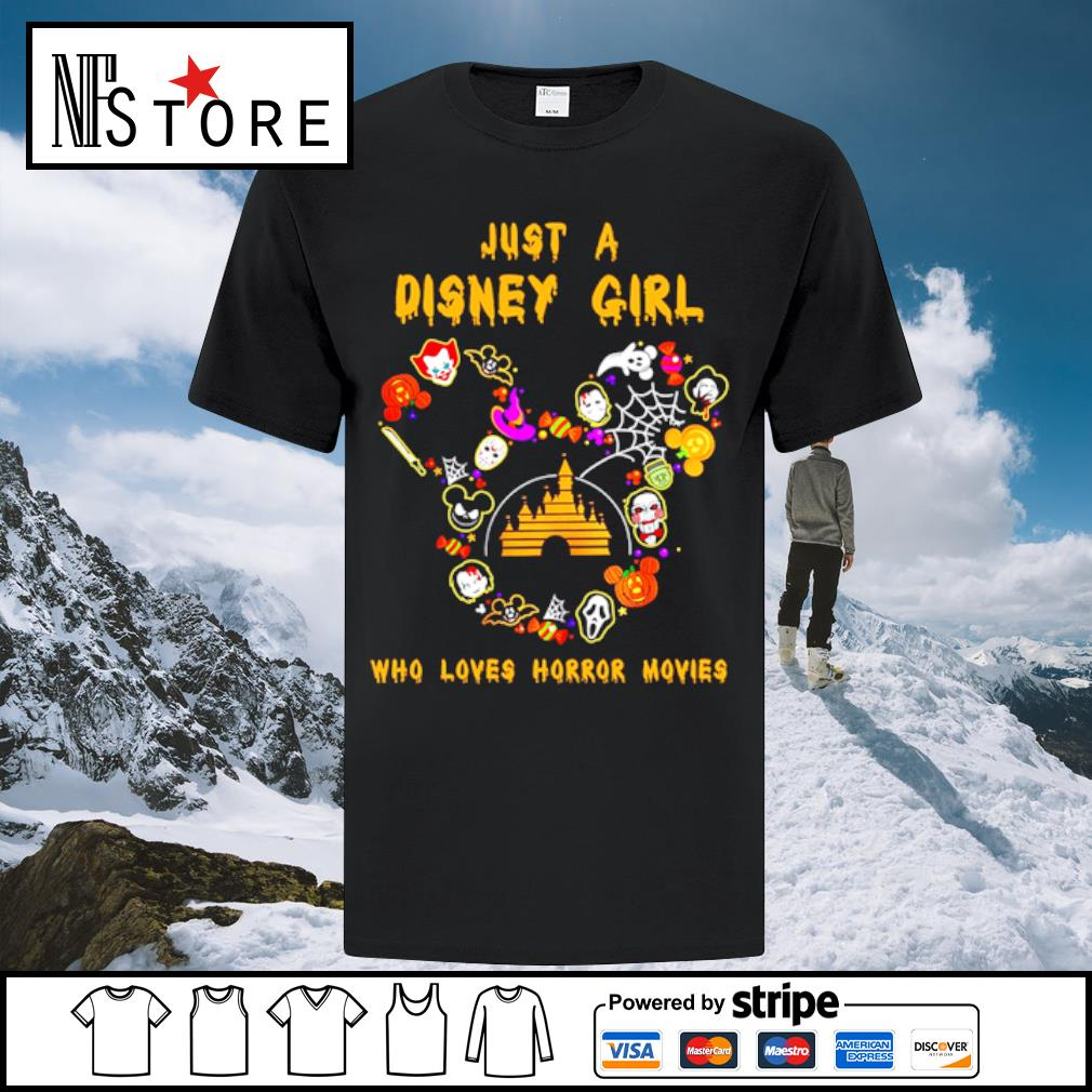 Just a Disney girl who loves horror movies Halloween shirt
