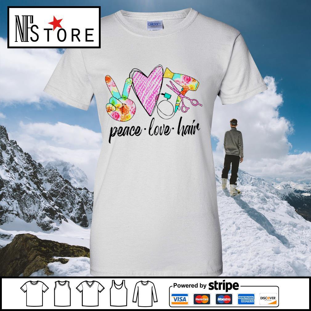 Peace love hair s ladies-tee