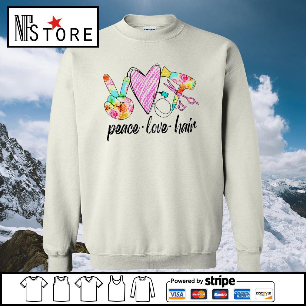 Peace love hair s sweater