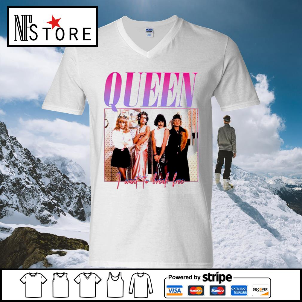 Queen I want to break free s v-neck-t-shirt