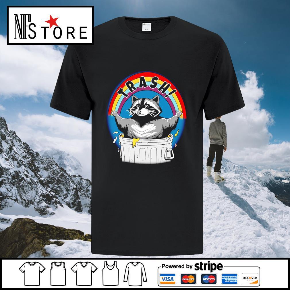 Rocket raccoon trash shirt