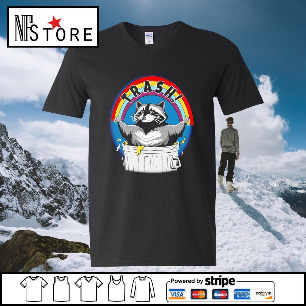Rocket raccoon trash s v-neck-t-shirt