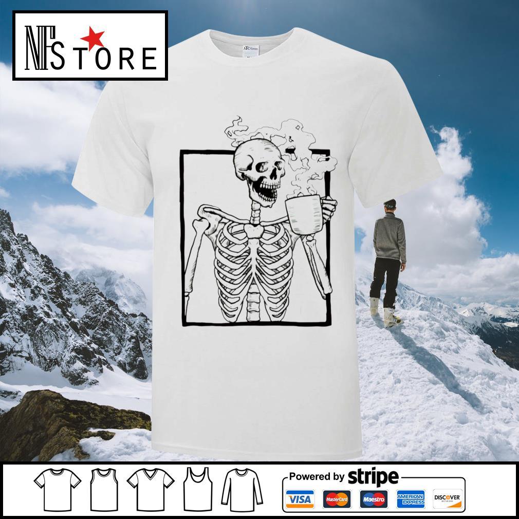 Skeleton coffee shirt