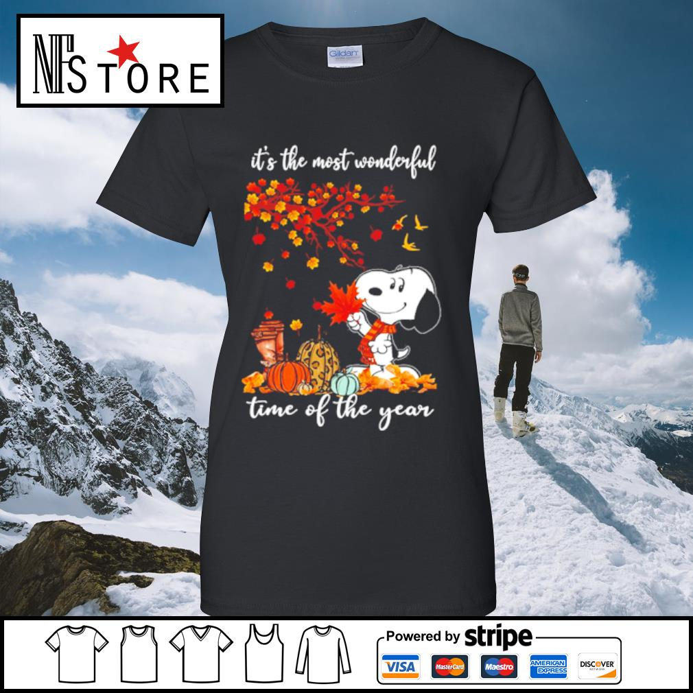 Snoopy It_s the mót wonderful time ò the year s ladies-tee