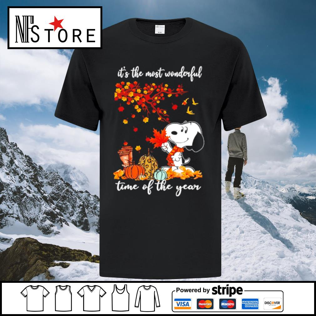 Snoopy It_s the mót wonderful time ò the year shirt