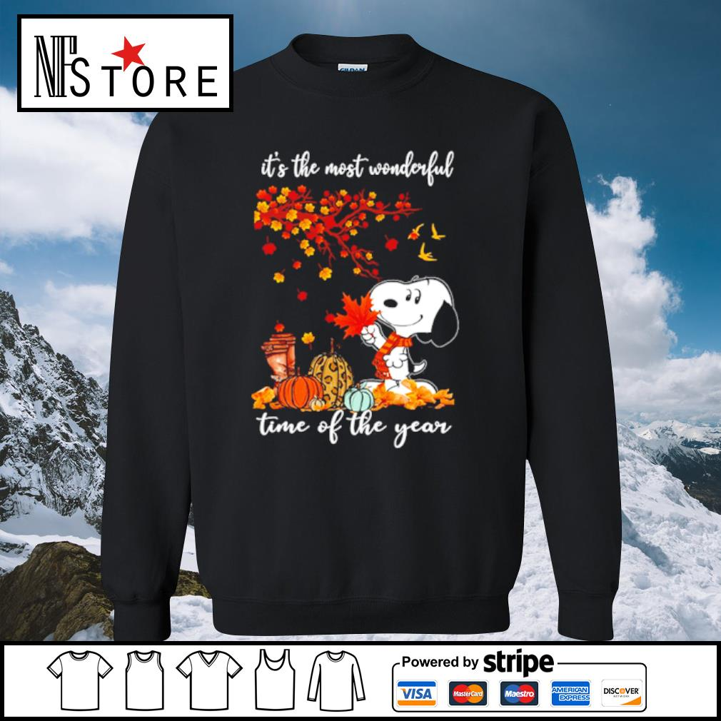 Snoopy It_s the mót wonderful time ò the year s sweater