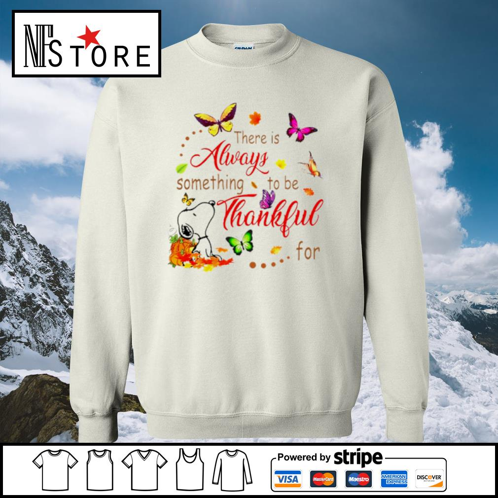 Snoopy there is alway something to be thankful s sweater