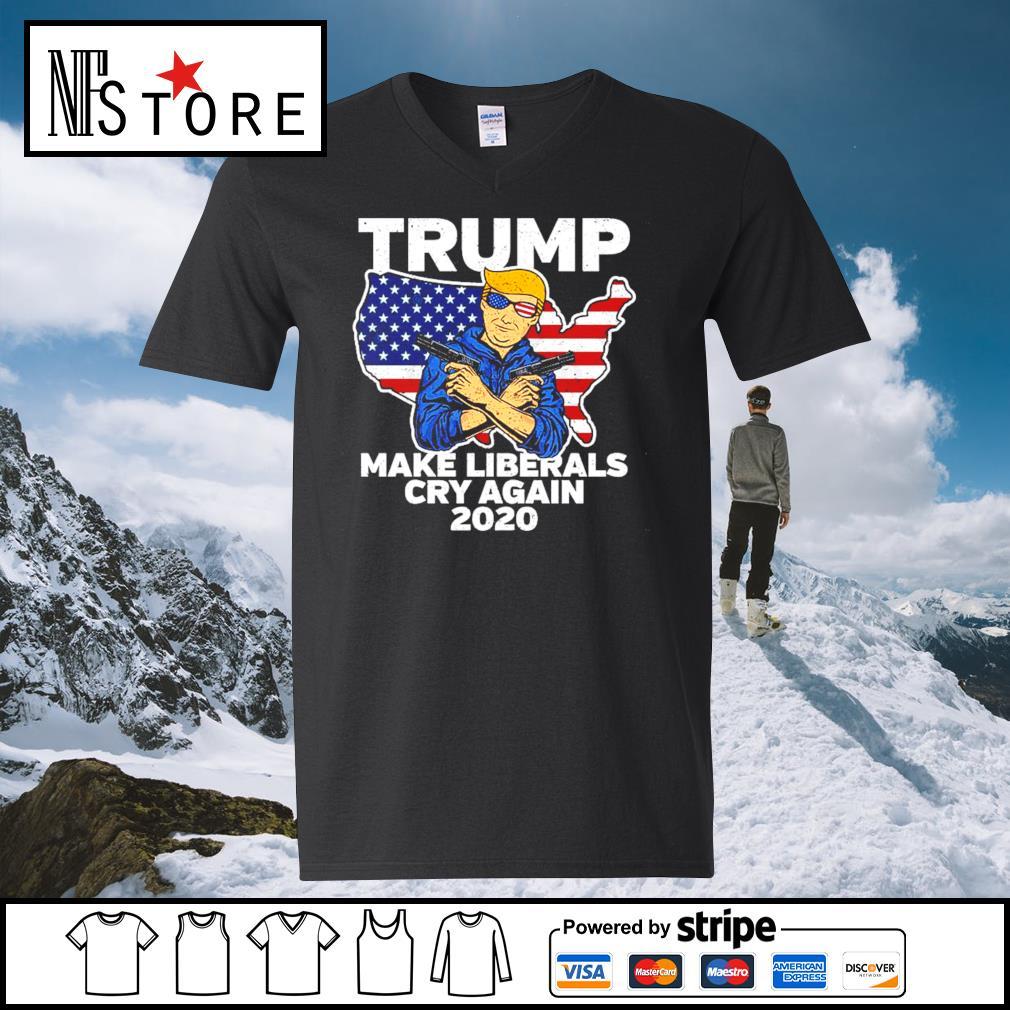 Trump make Liberals cry again 2020 s v-neck-t-shirt
