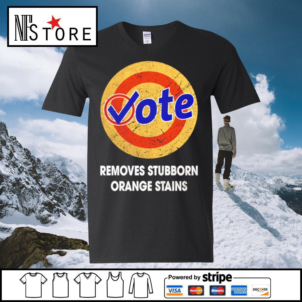 Vote removes stubborn orange stains s v-neck-t-shirt